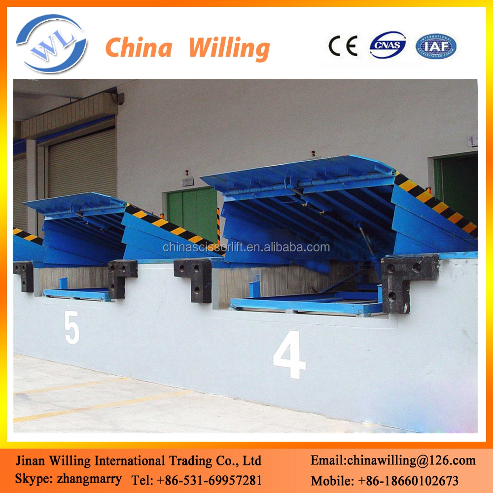 8t stationay loading ramp container hydraulic lifting dock levelers