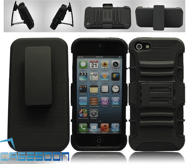 Mobile Phone Holster robot combo Case For Apple iPhone 4S 4G