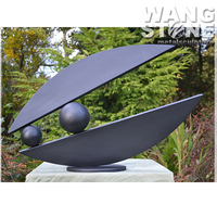 Modern Garden Abstract Bronze Metal Fish Sculpture