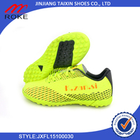 new design your own soccer shoes for baby/woman/man made in directly factory in Jinjiang Taixin Shoes Co., Ltd football shoes