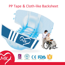 Durable wholesale easy for using adult care diaper adult cloth diapers snaps