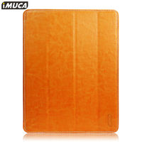 IMUCA concise leather four-fold smart case for Ipad air ,for ipad 5