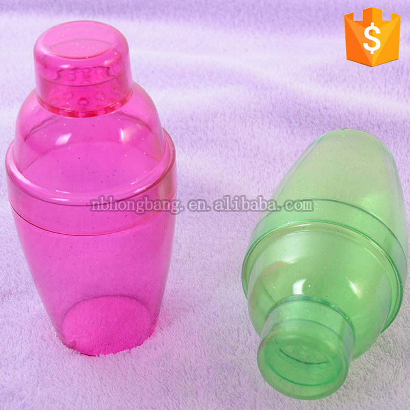 hot sale colorful 16oz cocktail shaker bottle
