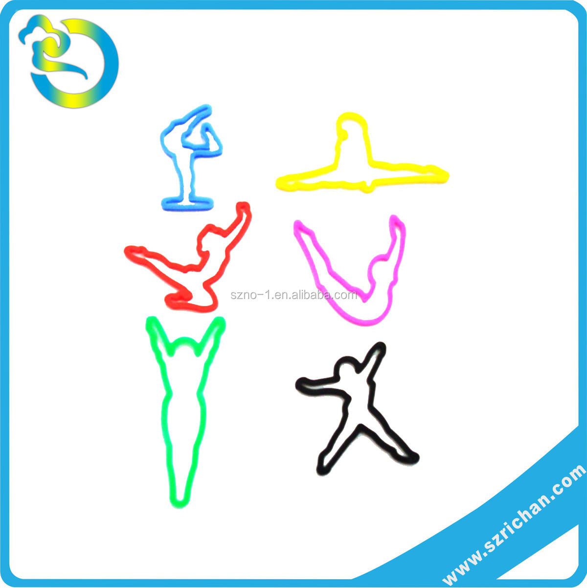 Factory Wholesale Flexible Multi Fun Gymnastic silly shape wrist band