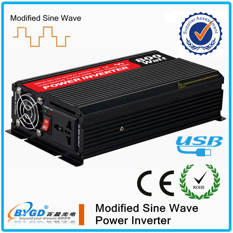 spain solar inverter,CE ROHS modified sine wave solar converters 800w