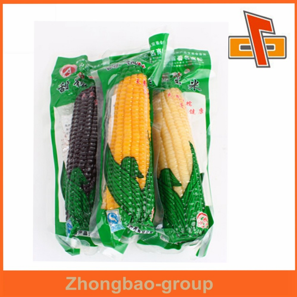 China manufacturer heat seal nylon pouch vacuum packing bag for corn