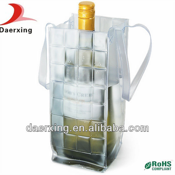 China supplier PVC Ice Bag for Cooling Wine,PVC bags