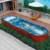 HS-SP08M chinese family outdoor jet whilrpool above ground swimming pool