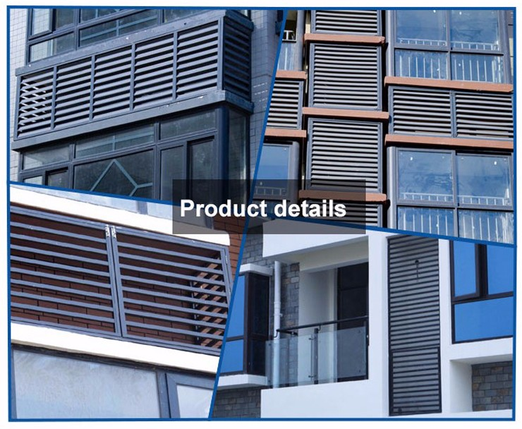 Home Center Raw Material Adhesive Ventilation Gazebo Partition Horizontal Curtain Blinds
