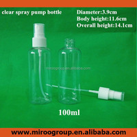 100ml clear /white water spray bottles, transparent nozzle Customized Spray Perfume Bottle