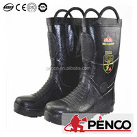 fire safety boots with kevlar leather material/en fire protection boots
