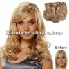 top quality belle russian hair 3/4 full head clip hair extension