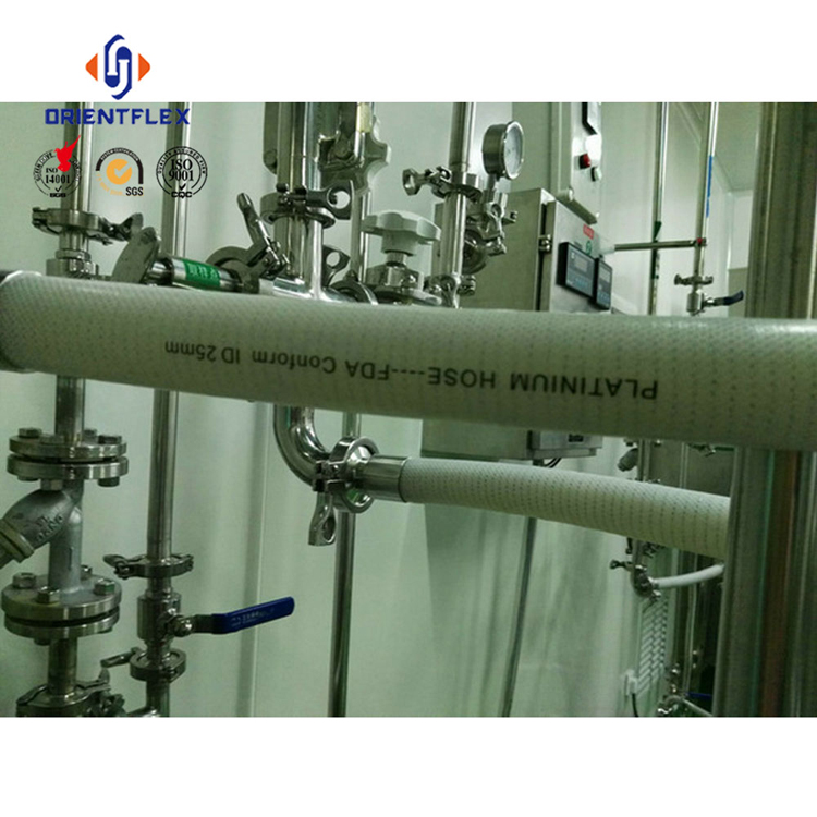 OEM soft weather resistant milk beer silicone sanitary tubing bulk