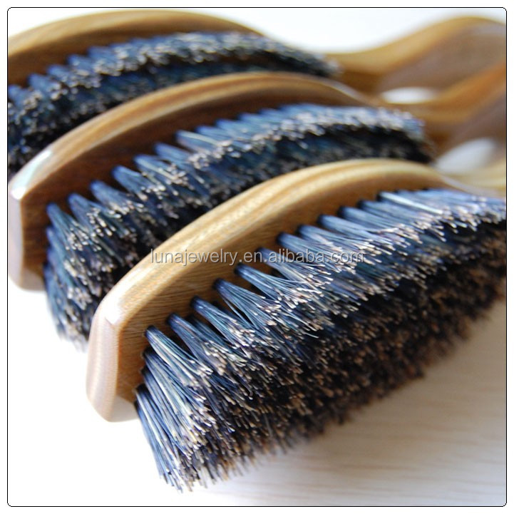 Greensandal wood hair comb with boar bristle,Promotional wholesale personalized wooden hair brush