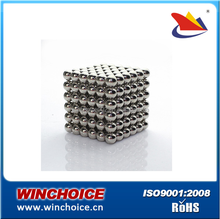 Silver Color Coating Sintered Neodymium Magnets , Sphere Magnetic balls