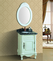 Made in China floor standing simple wood bathroom vanity with melamine mdf board