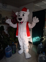 Adult top selling party christmas bear mascot costume activity type