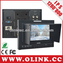 "7"" IPS photography video monitor with 3G, HD SDI input and output, HDMI Input and output"