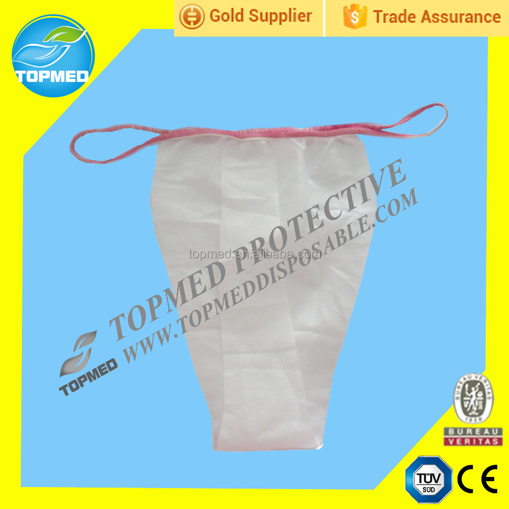 Disposable Nonwoven spray tanning thong women tanga with CE