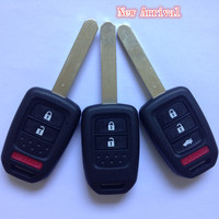 new arrival original replacement 3+1 button factory direct car remote key cover and key blank for Honda key shell
