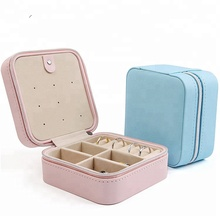 Wholesale Multi-Function Small PU Leather Travel Jewelry Box Organizer Storage Case for Rings Earrings Necklace
