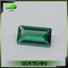 Top quality 8x5mm rectangle shape synthetic emeralds for sale