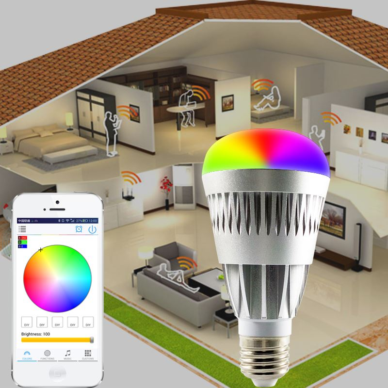 new electronic products Android IOS RGBW led light bulb display demo case