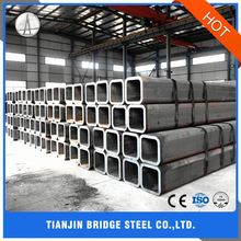 Construction Structure Building Material Mild Black Square Steel Tube