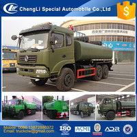 CN Military 6x6 off-road Water tank vehicle all wheel drive Water bowser tank Truck 15 m3 15000L 15tons washing trucks for sale