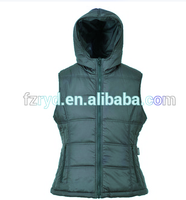 New Fashion Windproof Polyester Pongee Bodywarmer Waistcoat For woman