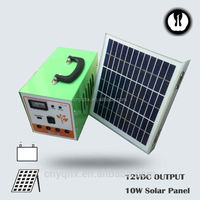 DC energy portable emergency controller metal solar light for house use with mobile charger with battery