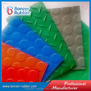 Anti-fatigue round button anti-slip rubber flooring mat
