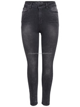 dark grey denim pants for women ankle length jeans slim high quality stretchy trouser