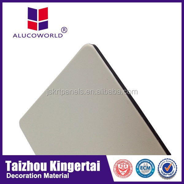 aluminium brushed silver wall plate /decorative sliver wall plate Aluminum composite panel(ACP)