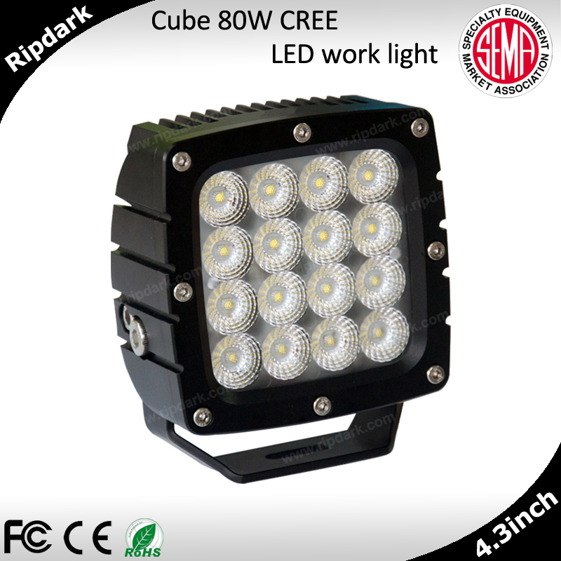 New Product 2015 Car Accessories China Supplier 80w Led Work Light For ATV Cars Trucks 12v/24v Cree 4x4 Led Work Light