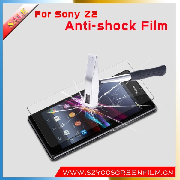 Hot sale anti shock screen protector for Sony xperia z2