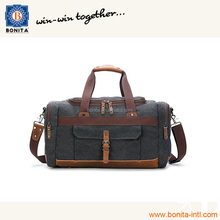 Canvas Leather Vintage Travel Duffel Bags