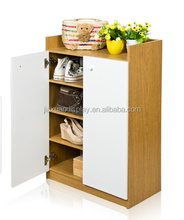 Four layer double shoe rack with large capacity, fashion entrance partition of the cabinet, Shuiquliu + white color