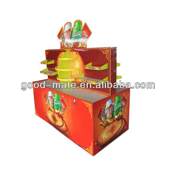 Supermarket Cardboard POP Up Promotion Stands Display Plant Rack