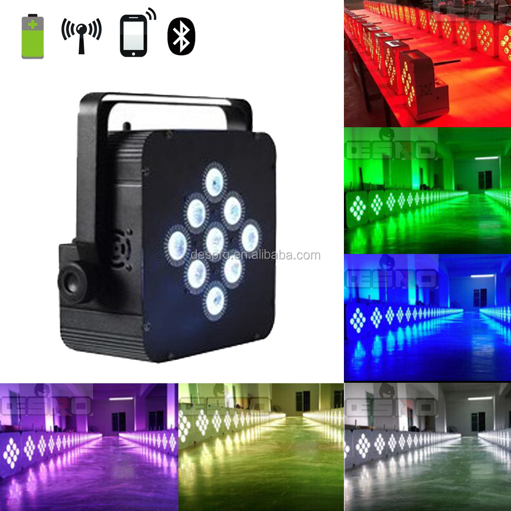 best selling party light par led 9x18w battery powered led stage lighting