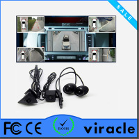 360 degree car security camera parking system Water Proof with CE RoHS certification