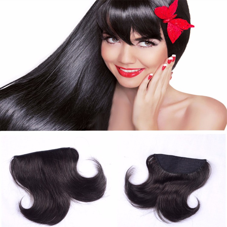 2018 March EXPO fashion new style remy hair clip on bangs for young girl