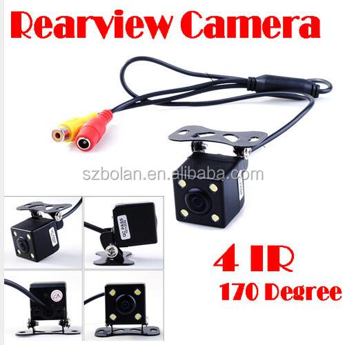 HD CCD 4 LED Night Vision Infared Car Camera Car Rear View Camera 170 Wide Angle Universal Car Reverse Rearview Camera
