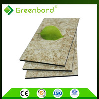 Greenbond colorful stone coated metal roofing acp sheet with cheapest price
