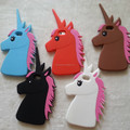 "Fashion 3D Cute Cartoon Unicorn Soft Silicon Rubber Case Cover For iPhone 5 5s 6 6s plus 4.7/5.5"" White Horse Case"