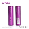 New 2017 Efest popular 3.7V Li ion battery 18650 3000mAh lithium rechargeable battery