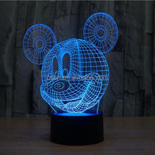 3D Visual Effect Mouse Head Led Table Lamp