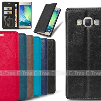 for samsung galaxy a3 2015 cell phone case leather wallet with card solts