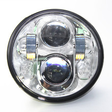 "Harley Led Headlight 5.75"", Harley Headlight 5 3/4 inch, 5.75 Inch Projector 40W Round LED Headlight Motorcycle Light For Harley"