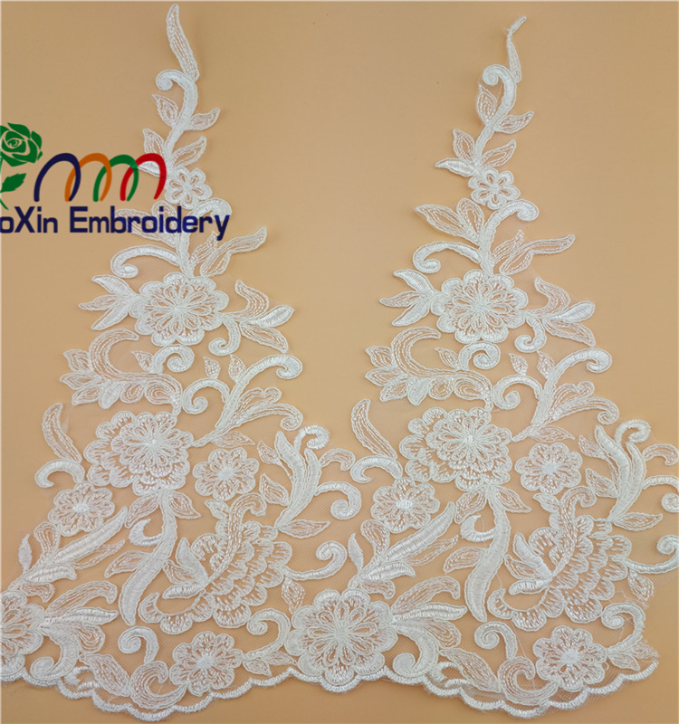 high quality embroidery lace fabric trim crochet lace for wedding dress